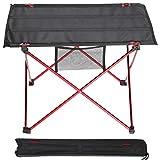 Campingtisch, Ultraleicht Tragbare Klapptisch Camping Ausflüge im Freienpicknick-Oxford-Gewebe Tisch, Falttisch mit Bag (Rot)