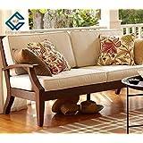 MP ENTERPRIESES Solid Sheesham 3+2+1 Wooden Sofa Set (Walnut Brown)