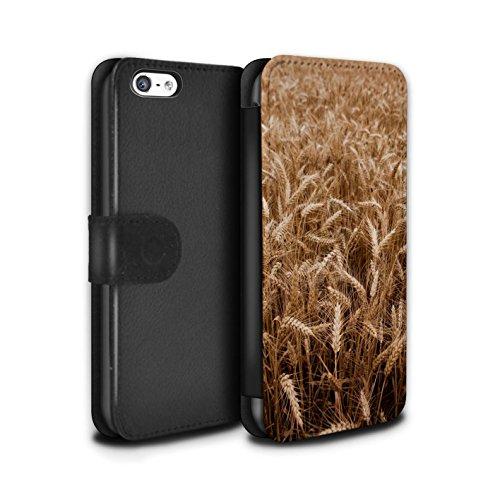 Stuff4 Coque/Etui/Housse Cuir PU Case/Cover pour Apple iPhone 5C / Pack 8pcs Design / Campagne Colombie Collection Champ De Blé