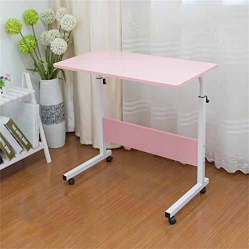 Klapptisch Cqq Computer-Schreibtisch kann es einfach bewegen Aufzug Laptop-Tisch Bett Schreibtisch Landnutzung Mobile faul Tisch Nachttisch Computertisch Wandtisch (Farbe : Pink, größe : 80 * 40cm)