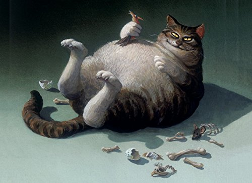 lag C6- (11,5 x 17 cm) • 5347-5 ''Brunch?'' von Inkognito • Künstler: INKOGNITO © Michael Sowa • Fantastik • Tiere ()