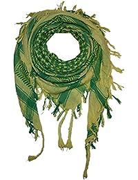 Superfreak® Pañuelo pali de dos colores especial°chal PLO°100x100 cm°Pañuelo palestino Arafat°100% algodón – amarillo/verde-turquesa