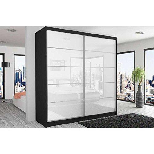 justhome-beauty-6-armoire-218-200-60-couleur-noir-mat-blanc-laqu-haute-brillance