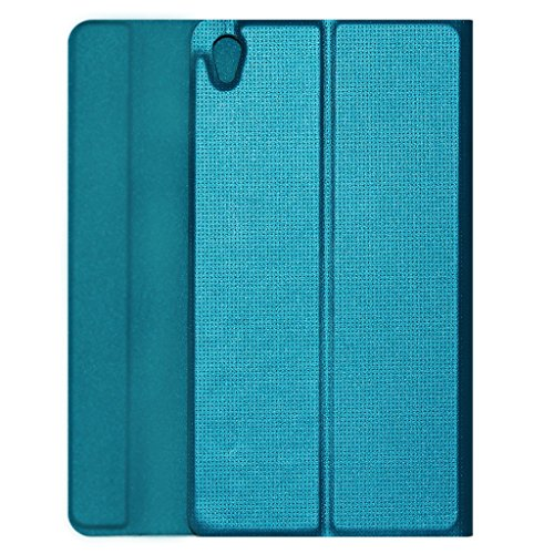 Acm Imported Designer Tri-Fold Flip Case for Lenovo Phab 6.98″ Tablet Cover Turquoise