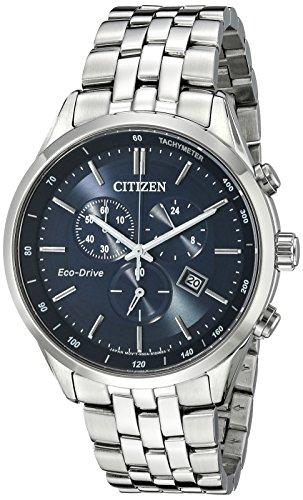 Citizen orologio cronografo quarzo uomo con cinturino in acciaio inox at2141-52l