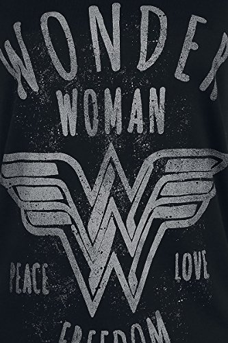 Wonder Woman Freedom Girl-Shirt Schwarz Schwarz