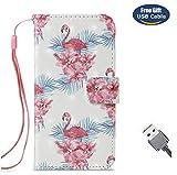 Aireratze Custodia iPhone 6S,Cover iPhone 6, Custodia Pelle Libro Portafoglio Pelle Clip Supporto di Stand Magnetic Case [Cinturino] [Diamante Glitterato] per iPhone 6S/iPhone 6 (Fenicotteri)