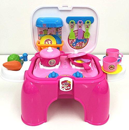 (SK-P) deAO® Kit de Cocina para Niños/ Taburete Maletín Portable