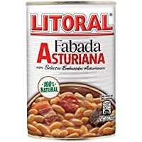 LITORAL Fabada Asturiana - Plato Preparado Sin Gluten - Pack de 6 x 435 g