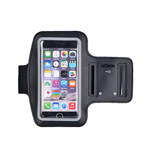 511Ck0k%2B1HL BEST BUY UK #1ESKY24Sports Gym Jogging Running Riding Bike Cycling Dancing Armband Case Armband Case + Key Holder for iPhone 6/(4.7Inch)/for iPhone 6/6S/Plus (5.5), Non Slip Suitable for Jogging, Cycling, Hiking, Canoeing Sports, Horseback Riding, Garden, Golf, Roller Blading, Cross Country Skiing, Black, black, 5.5 Zoll für Iphone 6S/6 Plus