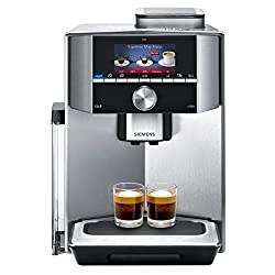 Siemens EQ.9 s500 TI915531DE Kaffeevollautomat (1500 Watt, Keramik-mahlwerk, 1 Bohnenbehälter, Großes TFT-Display, Baristamodus, integriertes Milchsystem) edelstahl
