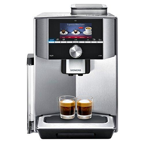 eq6 plus s700 Siemens EQ.9 s500 TI915531DE Kaffeevollautomat (1500 Watt, Keramik-mahlwerk, 1 Bohnenbehälter, Großes TFT-Display, Baristamodus, integriertes Milchsystem) edelstahl