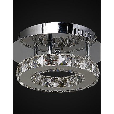 Prodotti ZSQ lampada 6W/moderno contemporaneo di cristallo LED / metallo cromato montaggio ad incasso Living Room , 220-240v #816