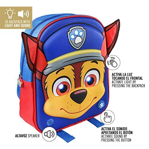 Cerdá La Patrulla Canina Mochila Infantil, 32 cm, Azul