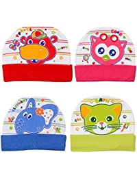 bfcf5fec Unique Ideas Soft Printed Cotton Caps for Baby Boys and Girls (0-9 Months
