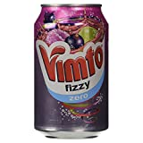Vimto Fizzy Zero Low Calorie Fizzy Drink Cans, 6 x 330ml