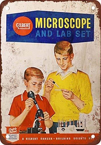 SIGNCHAT 1960 Gilbert Microscopio y Lab Set Blechschild, 20,3 x 30,5 cm