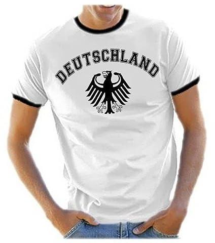 Deutschland Adler T-Shirt EM 2012 T-Shirt weiss_HERI HERREN RINGER Gr.XL