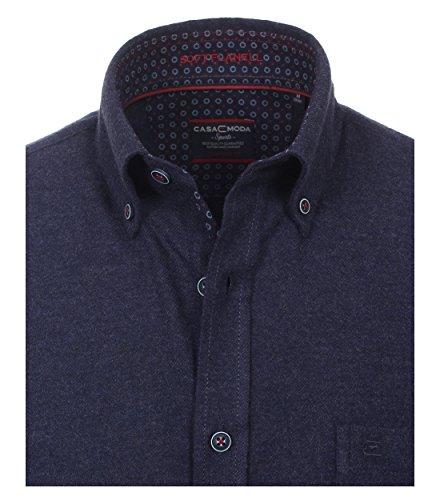 Casa Moda - Comfort Fit - Herren Flanell Freizeit Hemd in Anthrazit oder Blau (472857000) Blau (100)