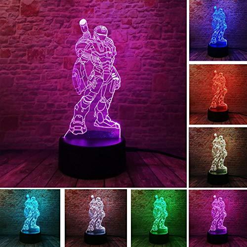 Amroe Marvel Avengers Iron Man Maske Liga Hulk Captain America USB Touch 7 Ton Nachtlicht Fan Spielzeug Geschenk
