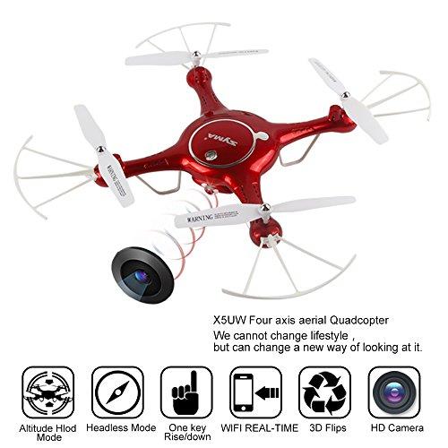 Preisvergleich Produktbild Mattheytoys Syma X5UW Drone FPV Echtzeit Wifi HD Camera Flight-Track-Funktion hoch hold RC Quadcopter RTF