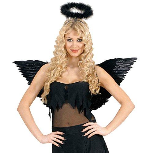 Schwarze Feder Flügel Party Federflügel Schwingen Engelsflügel Engeflügel schwarz Black Angel Federschwingen Kostüm (Schwarze Zubehör Flügel Kostüm)