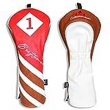 Artesano Golf piel sintética de color rojo marrón blanco...