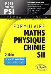 Formulaire Maths Physique Chimie SII MPSI PCSI PTSI PSI