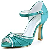 ElegantPark EL - 033 Damen Peep Zehen Strass Ankle Straps