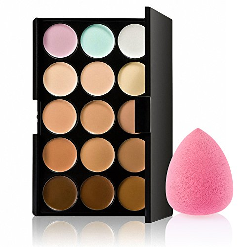Generic 15 Colors Contour Concealer Palette+ 1 Flawless Makeup Foundation Puff