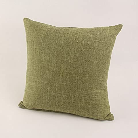 Yifom Ufficio di cotone liscio divano cuscini cuscino di un colore solido cuscini con anime,verde (Deer Coperta Del Tiro)