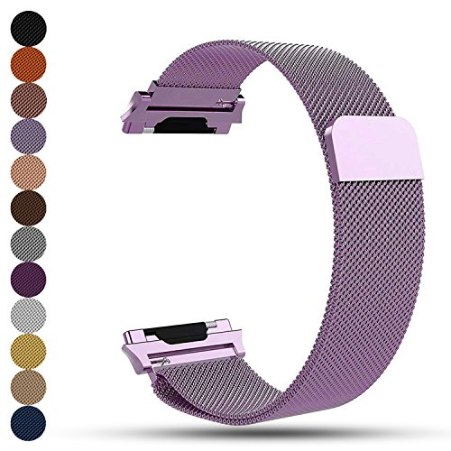 iFeeker Fitbit Ionic Smartwatch Replacement Watchbands, Magnet Lock Milanese Loop Stainless Steel Bracelet Wrist Strap Watch Band for Fitbit Unisex Ionic Health and Fitness Smartwatch
