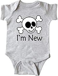 Huahai I'm New Cute Skull Baby Infant Creeper
