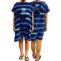 Albornoz de playa con capucha de ALDER, poncho de playa, salida de baño para chicos y grandes, Junior Navy