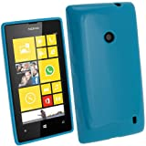 igadgitz Azul Case TPU Gel Funda Cover Carcasa para Nokia Lumia 520 Windows Smartphone + Protector...