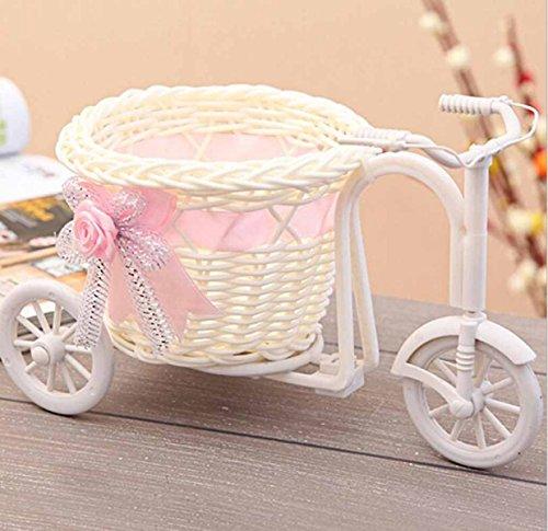 Cestini in giunco piccolo triciclo decorazioni fotografia puntelli vaso casa ornamenti decorati,pink