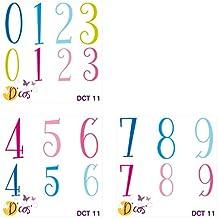 Toga dct11D'cos números Tom & Léa - Troqueles de metal gris 5x 5x 0,2cm