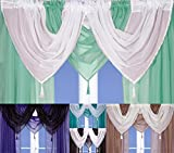 Voile Swag With Tassel (Pastel Green)