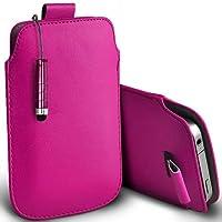 Rosa Shelfone–Protezione in pelle con linguetta per Blackberry Curve 8310(L) pennino capacitivo