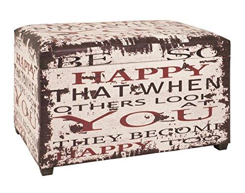 Sitztruhe klappbar mit Kunstleder bezogen Maße (B/T/H) in cm: 65 x 40 x4 2 in Vintageoptik