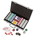 Philos 3757–Poker Chips, Valigetta in alluminio, Rosso/Blu/Verde/Nero/Grigio