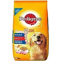 Pedigree Adult Dog Food, Chicken and Vegetables, 15 kg Pack