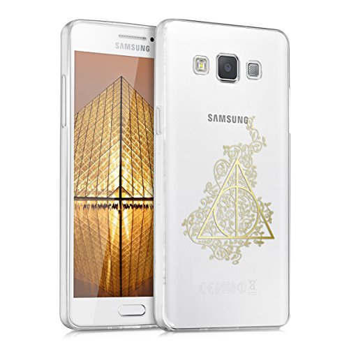 kwmobile Samsung Galaxy A5 (2015) Hülle - Handyhülle für Samsung Galaxy A5 (2015) - Handy Case in Gold Transparent