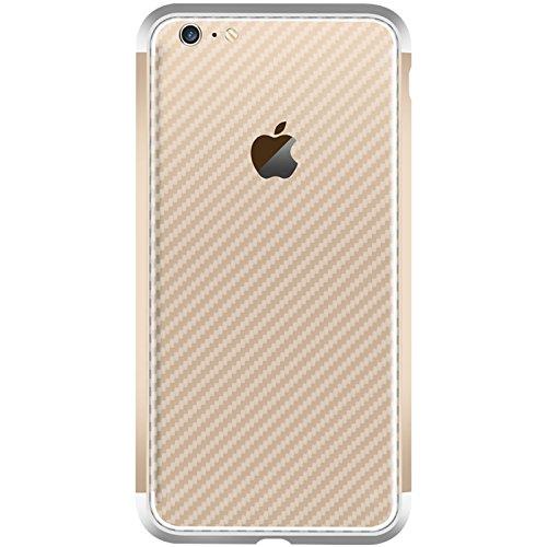 iPhone 6 Plus / iPhone 6s Plus Hülle, Moonmini® Hybride Anti-Kratz Rahmen Bumper Stoßfest Kohlefaser Schutz Schutzhülle für iPhone 6 Plus / iPhone 6s Plus Blau + Golden Silber