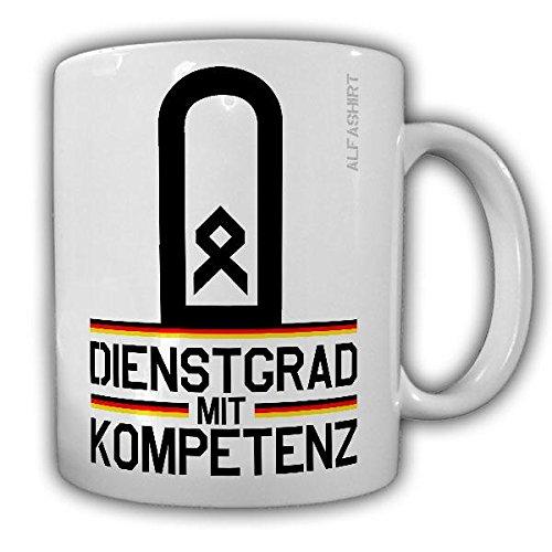 Tasse Hauptfeldwebel Dienstgrad Bundeswehr HptFw Dienstgrad Schulterklappe Abzeichen Kaffee Becher #20658