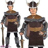Viking Warrior Fancy Dress Boys Historical Medieval Saxon Costume