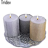 [Sponsored]Tridev - Aamazing Candle Lights Fragrance / Assorted Glassy T - Light Candle Holder/Decorative Candles