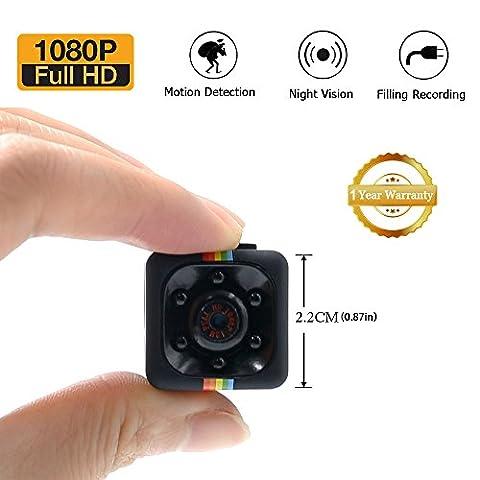 Caméra Cachée 1080P Mini Caméra Spy LXMIMI Caméra Web Portable HD Nanny avec Vision Nocturne et Détection de Mouvement pour Caméra de Surveillance de Sécurité Intérieure /