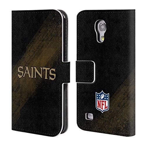 Head Case Designs Offizielle NFL Unschärfe New Orleans Saints Logo Brieftasche Handyhülle aus Leder für Samsung Galaxy S4 Mini I9190 - Orleans Mini
