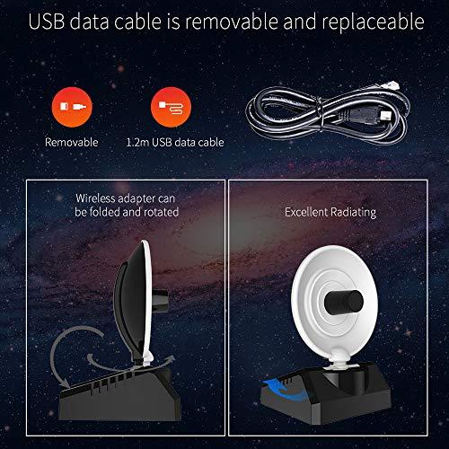 511CxF23O5L - BSDK Adaptador inalámbrico de WiFi para USB, 150-1300Mbps 2.4G y 5.8G Adaptador de señal de WiFi Fuerte Antena de Radar WiFi USB LAN Ethernet Receptor